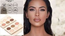 Awkward spelling fail on Kim Kardashian's new makeup palette