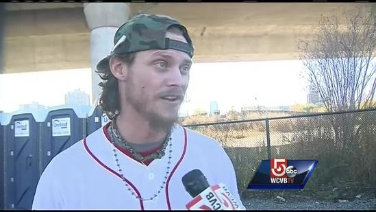 Uncut: Red Sox starting pitcher Clay Buchholz at rally