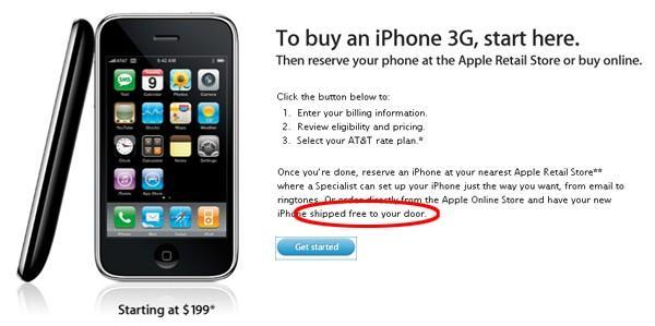 Apple Store now taking iPhone 3G orders online