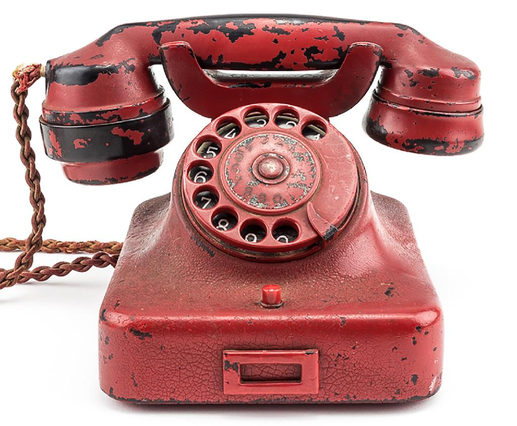 This undated image obtained from Alexander Historical Auctions shows a phone belonging to Nazi leader Adolf Hitler