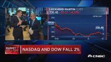 Dow plunges over 400 points