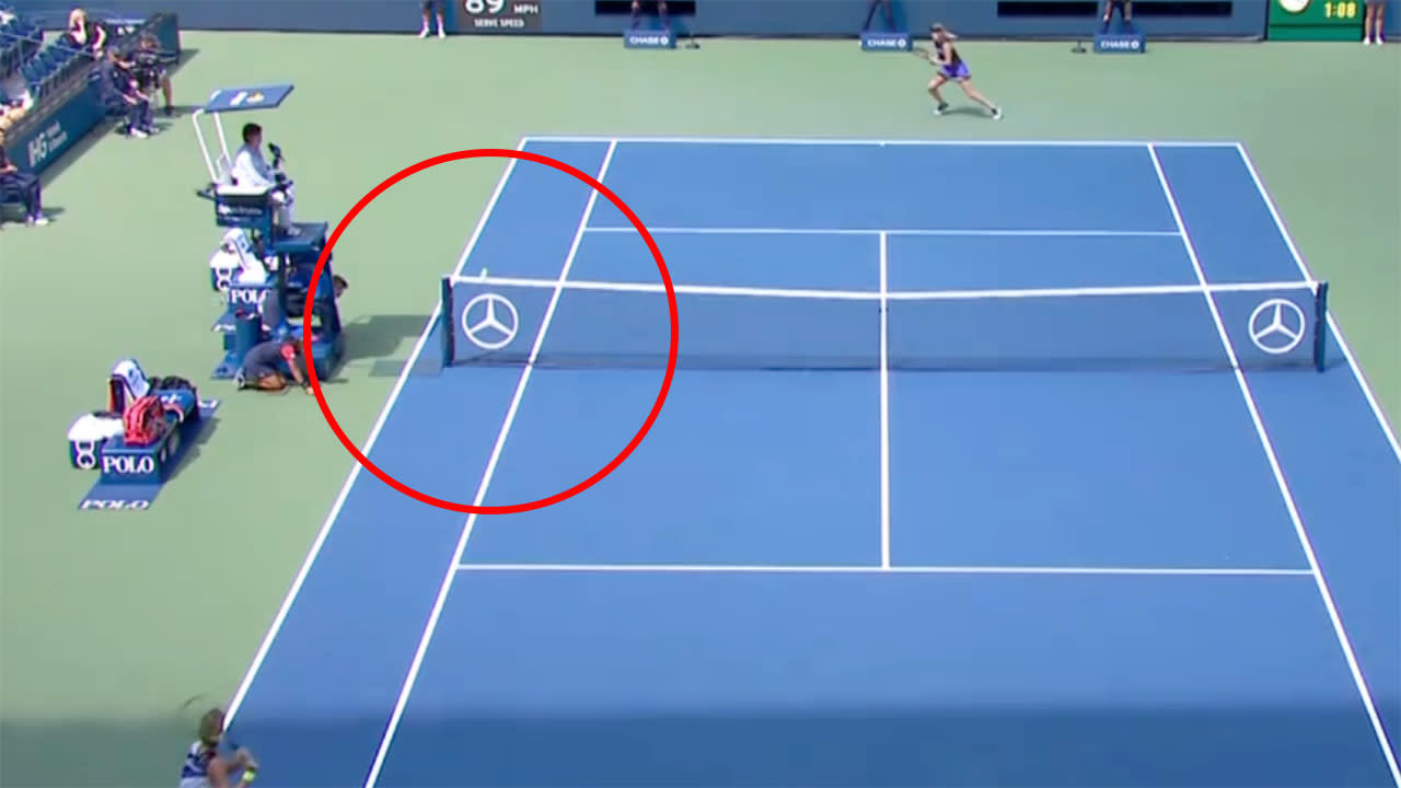 'Oh my goodness': Disbelief over extraordinary anomaly at US Open