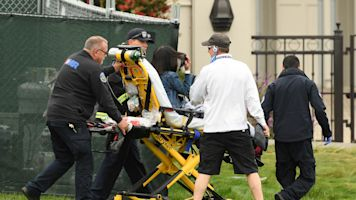 Rogue golf card at U.S. Open puts 2 in hospital