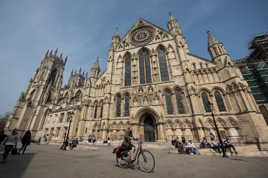 York Minster was completed in 1360, just 15 years after Notre-Dame cathedral in Paris (AFP Photo/OLI SCARFF)