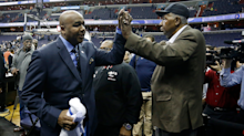 Allen Iverson, Patrick Ewing and other Georgetown legends pay respects at John Thompson Jr.'s funeral