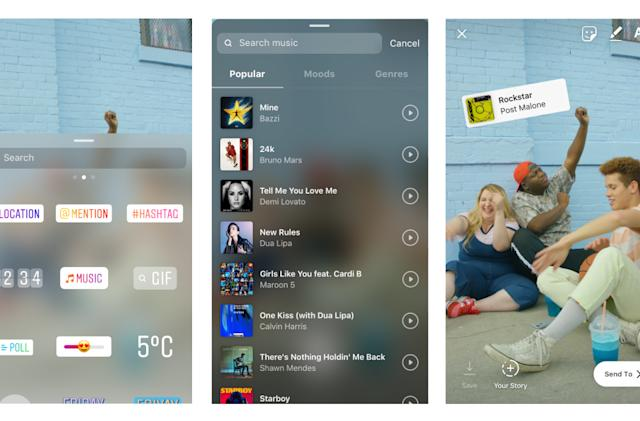 Instagram now lets you add a soundtrack to your Stories