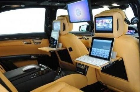 Brabus's iBusiness is a Mercedes-Benz S600 tricked out Apple style