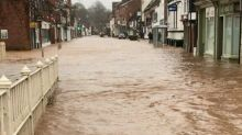 'A Terrible Situation': Floodwater Swamps Streets of Tenbury Wells