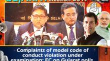 Complaints of model code of conduct violation under examination: EC on Gujarat polls