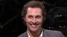 Matthew McConaughey Says He Threw Baby 15 Feet To Avoid Charging Ram