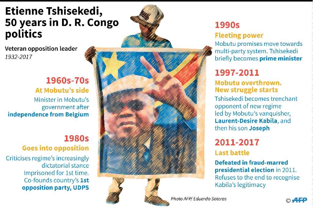 Etienne Tshisekedi (AFP Photo/Sabrina BLANCHARD, Aude GENET)