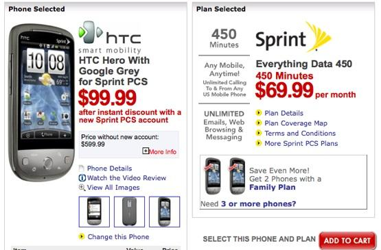 HTC Hero, Samsung Moment now $100 on Sprint courtesy of Best Buy