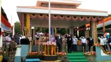 Andhra's Home Minister hoists national flag on Independence day in Nellore