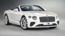 Bavaria-themed Bentley Continental GT Convertible has a blue top and blue interior