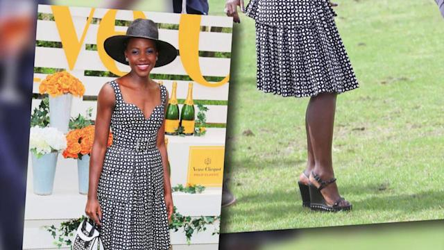 Lupita Nyong'O Steals the Show at the Veuve Clicquot Polo Classic Event