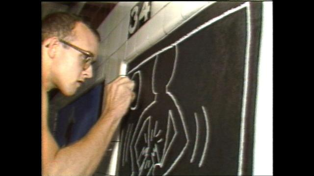 From the archives: Keith Haring was here