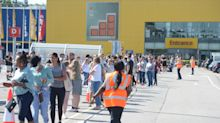 Hundreds queue outside IKEA stores as lockdown restrictions ease