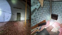 Man discovers creepy abandoned apartment in his attic