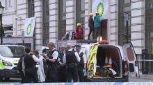 Greenpeace protesters block BP London HQ entrances