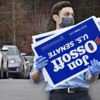 Democratic Senate hopeful Jon Ossoff of Georgia holds drive-through event to 'inspire people out to the polls'