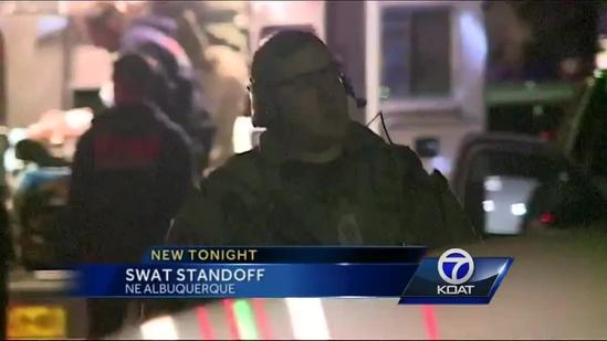 SWAT team arrests man on roof