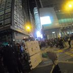 Protesters set up barricades in central Hong Kong