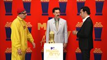 Sacha Baron Cohen reprised Borat and Ali G to accept MTV award
