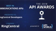 RingCentral Wins 2018 API World Award for Communications APIs