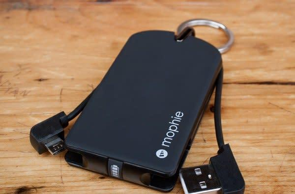 Mophie's $40 Juice Pack Reserve Micro charges your smartphone, fits on a keychain