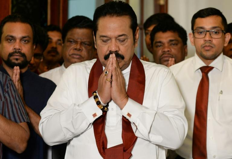 Ex-president Mahinda Rajapaksa sworn in as Sri Lanka's new prime minister