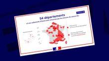 Couvre-feu: les départements d'Outre-mer représentés à l'envers sur une carte du gouvernement