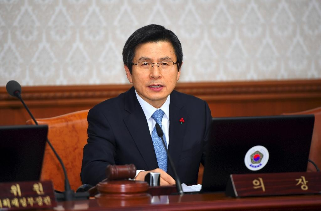 South Korea's Prime Minister Hwang Kyo-Ahn took over President Park Geun-Hye's sweeping executive powers after her impeachment last month