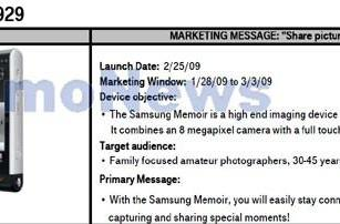 Samsung Memoir emerges in T-Mobile documentation