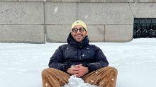 Las fotos de los famosos disfrutando de la nieve y desafiando al frío de 'Filomena'