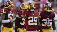 Watch the Redskins 'frisk and arrest' their teammate after an interception