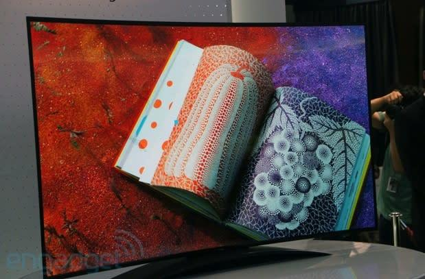 LG's 77-inch Ultra HD curved OLED TV is the biggest, with the most buzzwords (update: eyes-on)