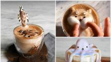 【圖集】17歲少女超強3D Latte Art 曱甴都有/柴犬臉珠任按