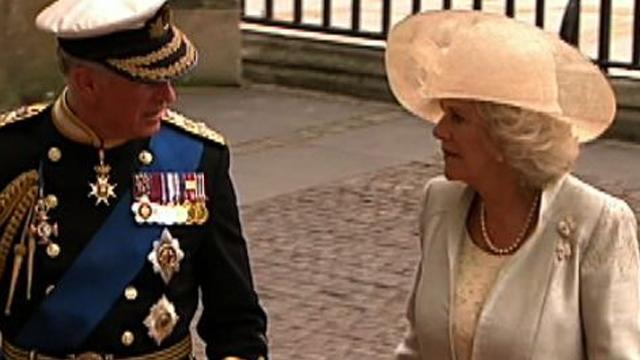Prince Charles and Camilla arrive at Westminster Abbey