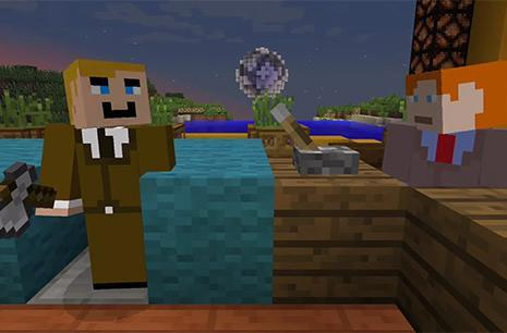 Conan O'Brien takes a field trip to Minecraft