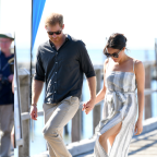 Meghan Markle Just Wore a Dress with a Thigh-High Slit and Looked Incredible