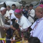 Pope Francis arrives in Thailand at start of 7-day Asia trip