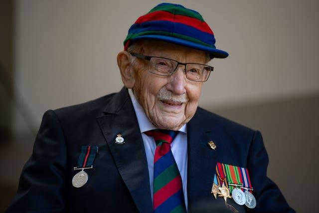 Captain Sir Tom Moore comments