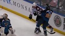 Patrick Bordeleau levels Cole with heavy hit