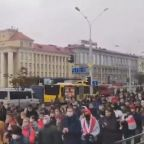 Students Protest in Belarus to Demand Lukashenko Resign as Strike Action Begins Across Country