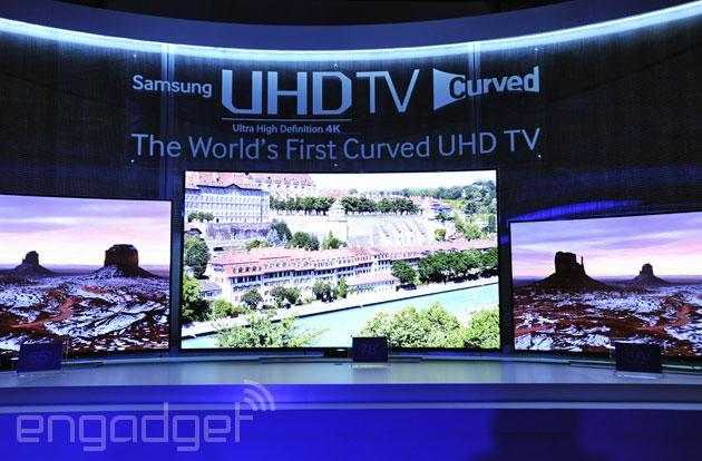 Samsung announces its curved 78-inch UHD TV: runs faster, works smarter