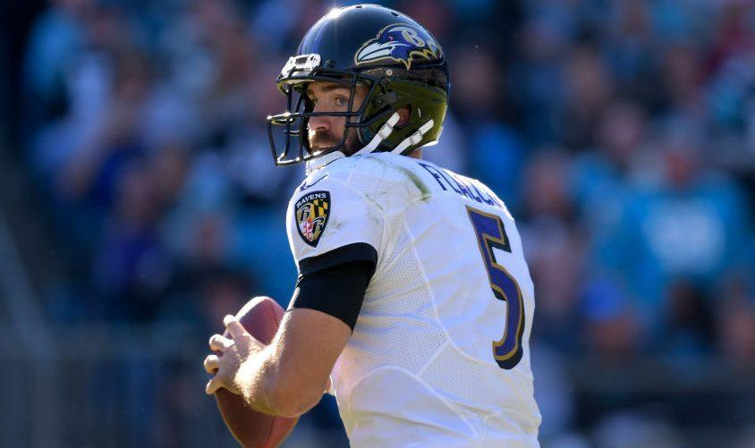 Joe Flacco's stats have been below average for four straight years