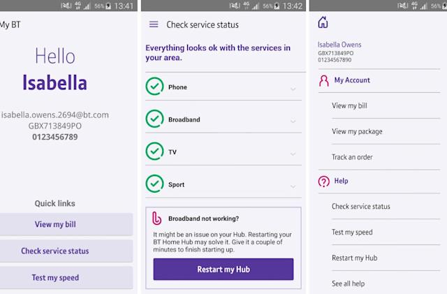 My BT app lets you restart your router remotely