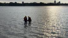 死意甚堅!澄清湖男女浮屍 手臂以繩相綁背石頭投水