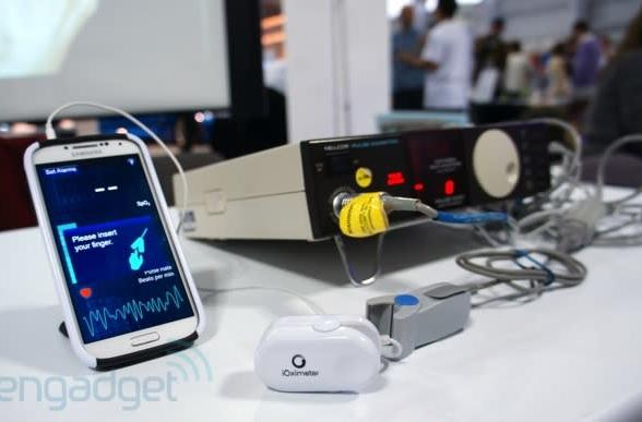 iOximeter monitors your heart-rate, is powered by your phone's headphone socket