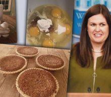 Bake News! Sarah Huckabee Sanders Delivers Pie in Response to Skepticism Over Her Cooking Skills